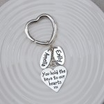 Heart Keyring with Two Name Charms Main Image