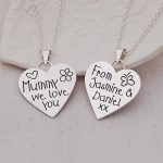 Mummy We Love You Silver Heart Necklace 3 by Indivijewels