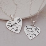 Mummy We Love You Silver Heart Necklace by Indivijewels