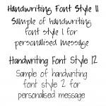 Handwriting Font Styles 11 & 12