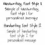 NEW Handwriting Font Styles 11 & 12