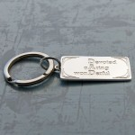 Personalised Silver DAD Keyring