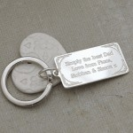 Personalised Silver DAD Keyring Back