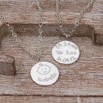 Personalised Silver New Baby Necklace 4
