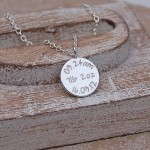 Personalised Silver New Baby Necklace 6
