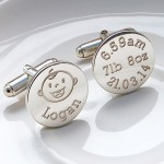 Personalised Silver New Daddy Cufflinks alt