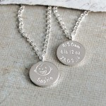 Personalised Silver New Mum Necklace Baby Laughing 6