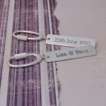 Personalised Silver Occasions Keyring 1
