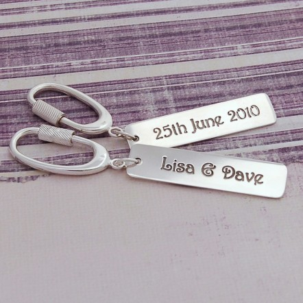 Personalised Silver Occasions Keyring Main