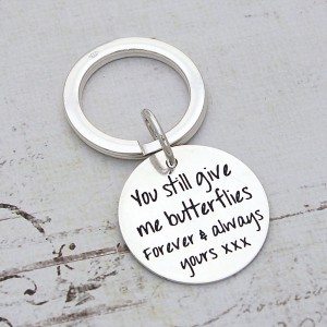 Silver Keyring with Personalised Message 1