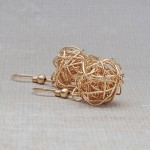Gold Filled Birds Nest Earrings 2