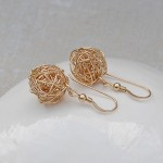 Gold Filled Birds Nest Earrings 3jpg