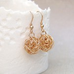 Gold Filled Birds Nest Earrings