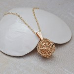 Gold Filled Birds Nest Necklace 2