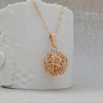 Gold Filled Birds Nest Necklace 3