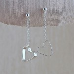 Silver Secret Heart Earrings 2