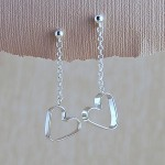 Silver Secret Heart Earrings Main