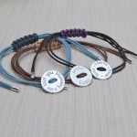 Personalised Silver Button Friendship Bracelet Group