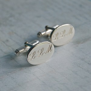 Personalised Silver Initial Cufflinks 2