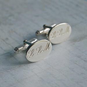 Personalised Silver Initial Cufflinks 2