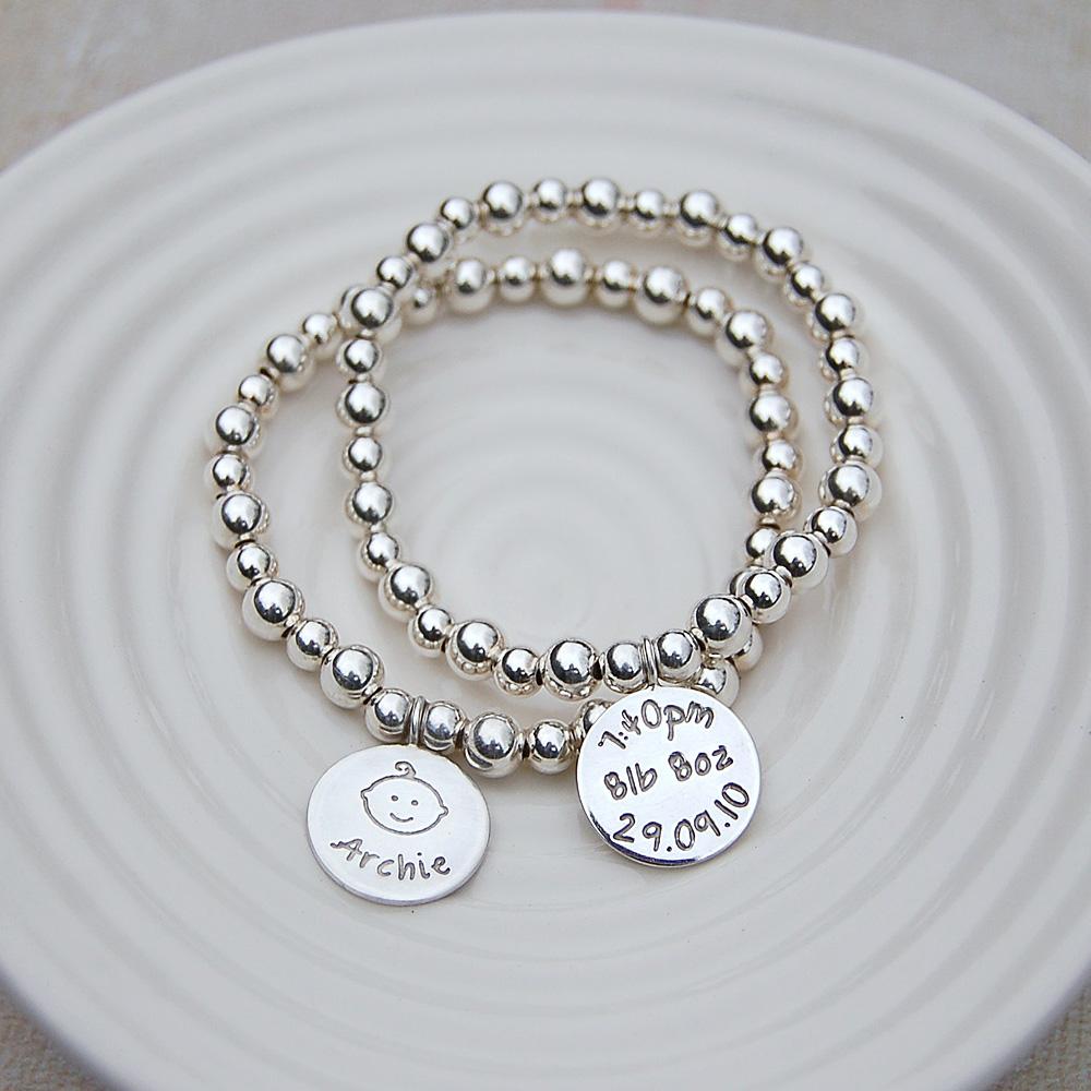 Personalised Silver New Mum Bracelet Indivijewels
