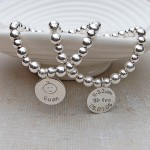 Personalised Silver New Baby Bracelet 4 by IndiviJewels