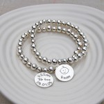 Personalised Silver New Baby Bracelet 5 by IndiviJewels