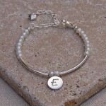 Personalised Silver and Pearl Girls Bracelet 3