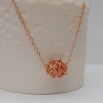 Rose Gold Twisted Wire Wrapped Necklace