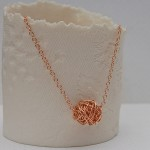 Rose Gold Twisted Wire Wrapped Necklace 3
