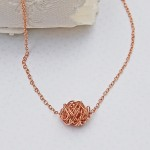 Rose Gold Twisted Wire Wrapped Necklace 4