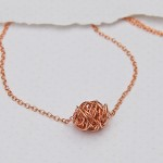 Rose Gold Twisted Wire Wrapped Necklace 5 copy