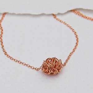 Rose Gold Filled Wire Wrapped Necklace