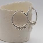 Silver Hoola Hoop Earrings