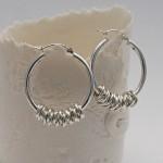 Silver Hoola Hoop Earrings 2