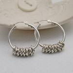 Silver Hoola Hoop Earrings 3