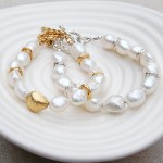 Silver and Gold Vermeil Nugget Pearl Bracelets2