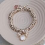 Sterling Silver Coin Pearl Sweetie Bracelet 4 copy