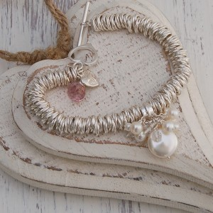 Sterling Silver Coin Pearl Sweetie Bracelet 7 copy
