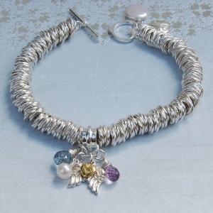 Sterling silver Angel wing bracelet 4 copy
