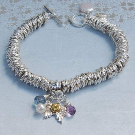Sterling silver Angel wing bracelet 4 copy