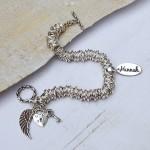 Sterling silver personalised rings bracelet 4