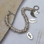 Sterling silver personalised rings bracelet 5