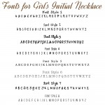 IndiviJewels font for Girls Initial Necklace