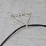 Mens Personalised Secret Message Silver Triangle Necklace 8