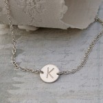 Personalised Silver Disc Necklace 3