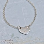 Personalised Silver Small Heart with Initial Necklac