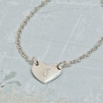 Personalised Silver Small Heart with Initial Necklace 2