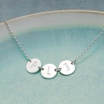 Personalised Silver Three Disc Initial Necklace