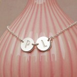 Personalised Silver Two Disc Necklace
